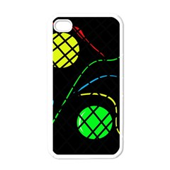 Colorful Design Apple Iphone 4 Case (white) by Valentinaart