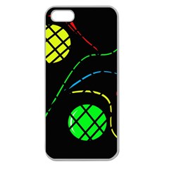 Colorful Design Apple Seamless Iphone 5 Case (clear) by Valentinaart