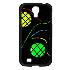 Colorful Design Samsung Galaxy S4 I9500/ I9505 Case (black) by Valentinaart