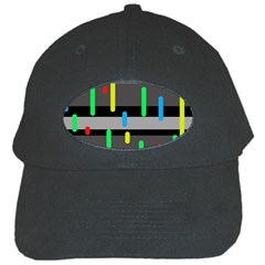 Colorful Pattern Black Cap by Valentinaart