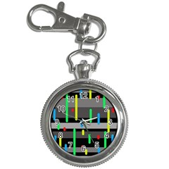 Colorful Pattern Key Chain Watches by Valentinaart