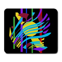 Colorful Abstract Art Large Mousepads by Valentinaart