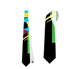 Colorful Abstract Art Neckties (one Side)  by Valentinaart
