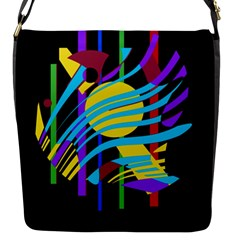 Colorful Abstract Art Flap Messenger Bag (s)