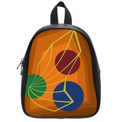 Orange Abstraction School Bags (small)
