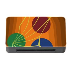 Orange Abstraction Memory Card Reader With Cf by Valentinaart