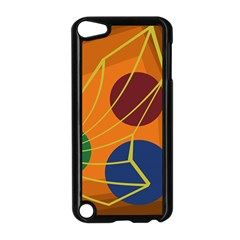 Orange Abstraction Apple Ipod Touch 5 Case (black)