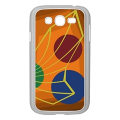 Orange Abstraction Samsung Galaxy Grand Duos I9082 Case (white) by Valentinaart