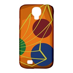 Orange Abstraction Samsung Galaxy S4 Classic Hardshell Case (pc+silicone)