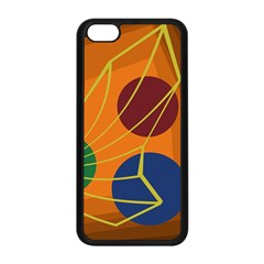 Orange Abstraction Apple Iphone 5c Seamless Case (black) by Valentinaart