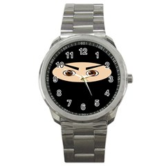 Ninja Sport Metal Watch by Valentinaart