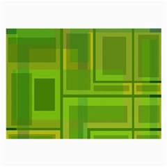 Green Pattern Large Glasses Cloth (2 Side) by Valentinaart