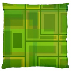 Green Pattern Large Cushion Case (two Sides) by Valentinaart