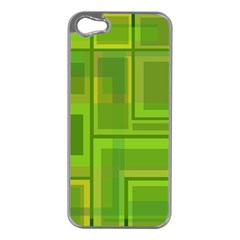 Green Pattern Apple Iphone 5 Case (silver) by Valentinaart