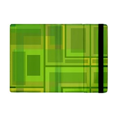 Green Pattern Apple Ipad Mini Flip Case by Valentinaart
