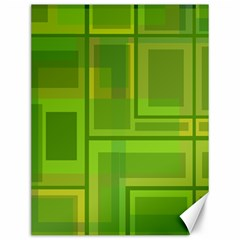 Green Pattern Canvas 12  X 16   by Valentinaart