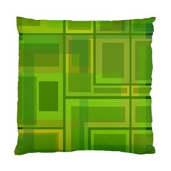 Green Pattern Standard Cushion Case (two Sides) by Valentinaart