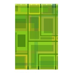 Green Pattern Shower Curtain 48  X 72  (small)  by Valentinaart