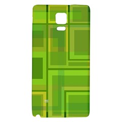 Green Pattern Galaxy Note 4 Back Case by Valentinaart