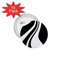 Black And White Pattern 1 75  Buttons (10 Pack) by Valentinaart
