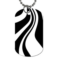 Black And White Pattern Dog Tag (one Side) by Valentinaart