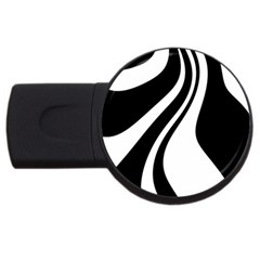 Black And White Pattern Usb Flash Drive Round (2 Gb)  by Valentinaart