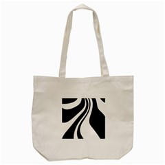 Black And White Pattern Tote Bag (cream) by Valentinaart