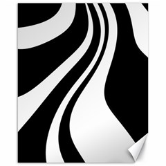 Black And White Pattern Canvas 16  X 20   by Valentinaart