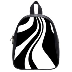 Black And White Pattern School Bags (small)  by Valentinaart