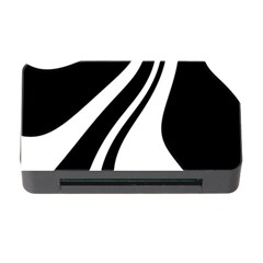 Black And White Pattern Memory Card Reader With Cf by Valentinaart