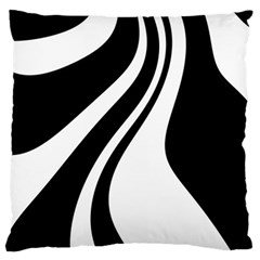 Black And White Pattern Large Cushion Case (one Side) by Valentinaart