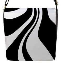 Black And White Pattern Flap Messenger Bag (s)