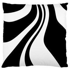 Black And White Pattern Standard Flano Cushion Case (one Side) by Valentinaart