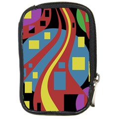 Colorful Abstrac Art Compact Camera Cases by Valentinaart