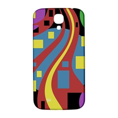 Colorful Abstrac Art Samsung Galaxy S4 I9500/i9505  Hardshell Back Case by Valentinaart