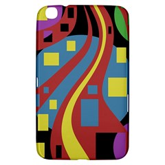 Colorful Abstrac Art Samsung Galaxy Tab 3 (8 ) T3100 Hardshell Case  by Valentinaart