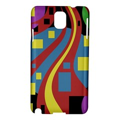 Colorful Abstrac Art Samsung Galaxy Note 3 N9005 Hardshell Case by Valentinaart