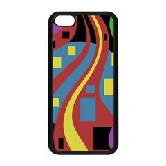 Colorful Abstrac Art Apple Iphone 5c Seamless Case (black)