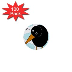 Black Raven 1  Mini Buttons (100 Pack)  by Valentinaart