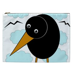 Black Raven Cosmetic Bag (xxl)  by Valentinaart