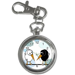 Black And White Birds Key Chain Watches by Valentinaart