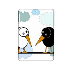 Black And White Birds Ipad Mini 2 Hardshell Cases by Valentinaart