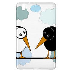 Black And White Birds Samsung Galaxy Tab Pro 8 4 Hardshell Case by Valentinaart