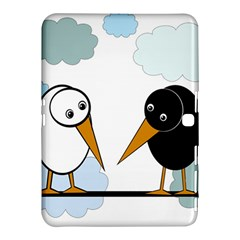 Black And White Birds Samsung Galaxy Tab 4 (10 1 ) Hardshell Case  by Valentinaart