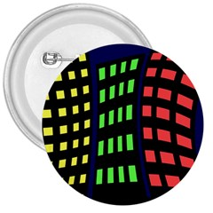 Colorful Abstract City Landscape 3  Buttons by Valentinaart