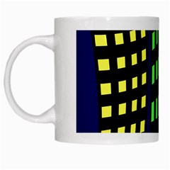 Colorful Abstract City Landscape White Mugs