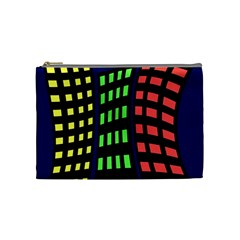 Colorful Abstract City Landscape Cosmetic Bag (medium)  by Valentinaart