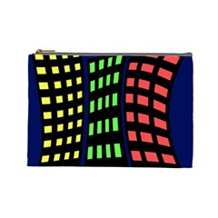 Colorful Abstract City Landscape Cosmetic Bag (large)  by Valentinaart