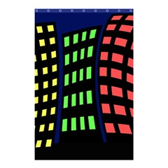 Colorful Abstract City Landscape Shower Curtain 48  X 72  (small)  by Valentinaart