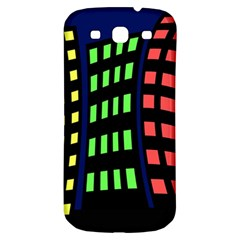 Colorful Abstract City Landscape Samsung Galaxy S3 S Iii Classic Hardshell Back Case by Valentinaart